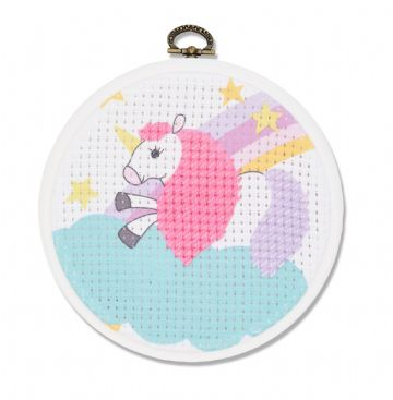 DMC My First Stitches Cross Stitch Kit - The Unicorn BK1841